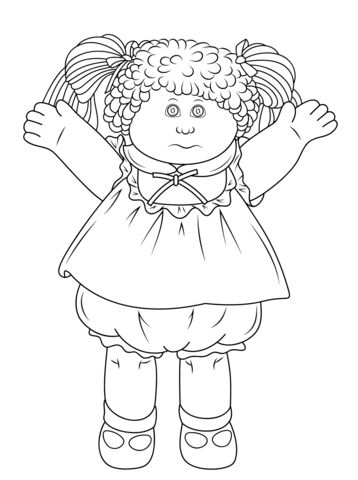 Cabbage Patch Doll coloring page from Rag Dolls category