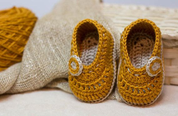 CROCHET PATTERN for Baby Autumn Colors  booties  Cheap
