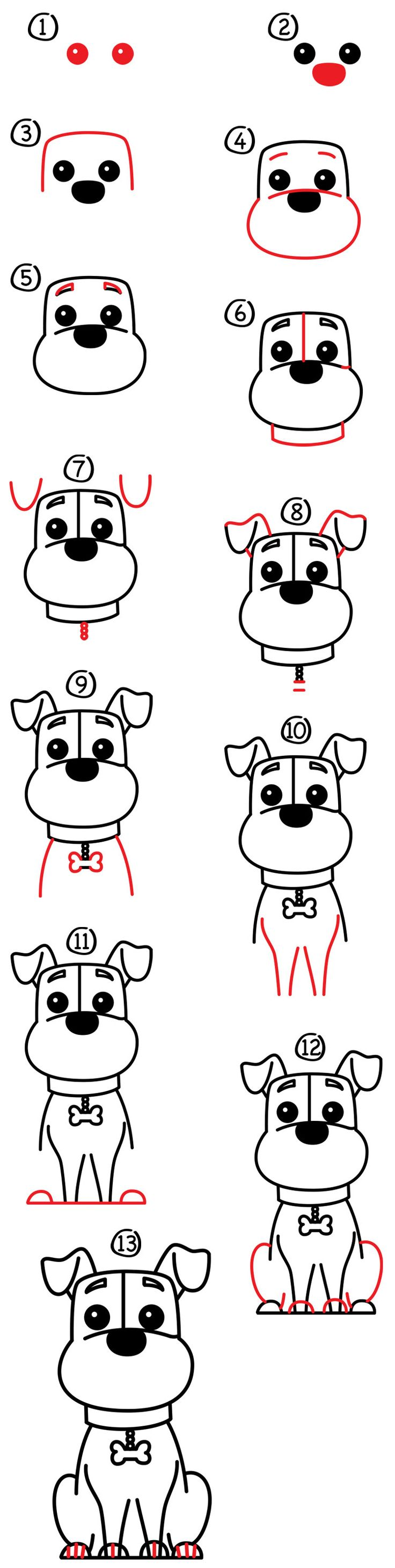 This Chinese New Year is the year of the dog. Here is how to draw one in your bullet journal.