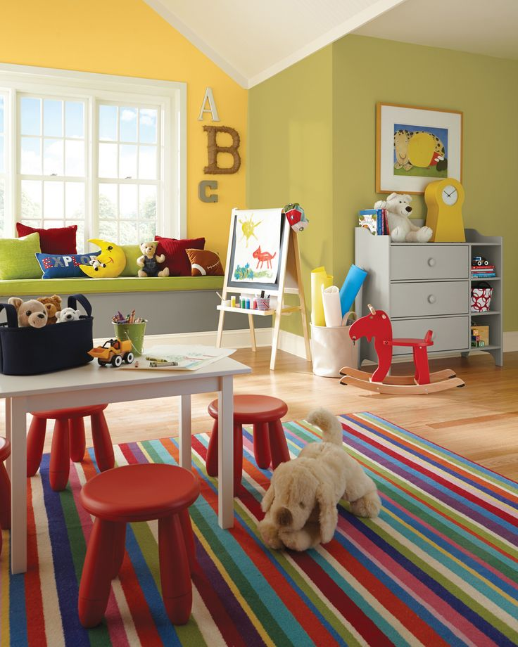 Colorful Kids Rooms: 139 Best Kids Rooms Paint Colors Images On Pinterest