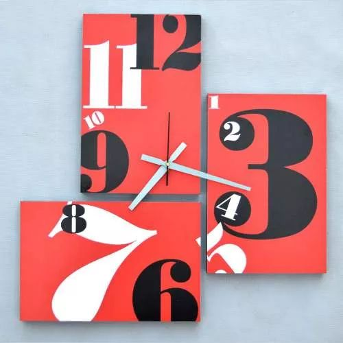 cuadro reloj de pared tríptico, diseños a pedido