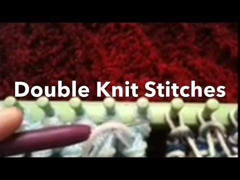 Loom Knit: Double Knit Stitches side by side, Rib & Twisted Knit/ Figure 8