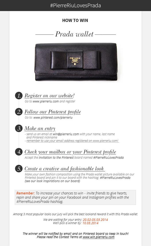 PINTEREST CONTEST - win Prada wallet! <3