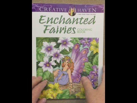 Creative Haven Enchanted Fairies Coloring Book Adult Flip Through
