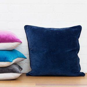 Image of Basic Large Cushion Cover - Navy
