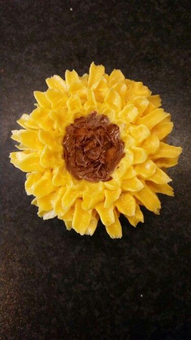 Zonnebloem cupcake