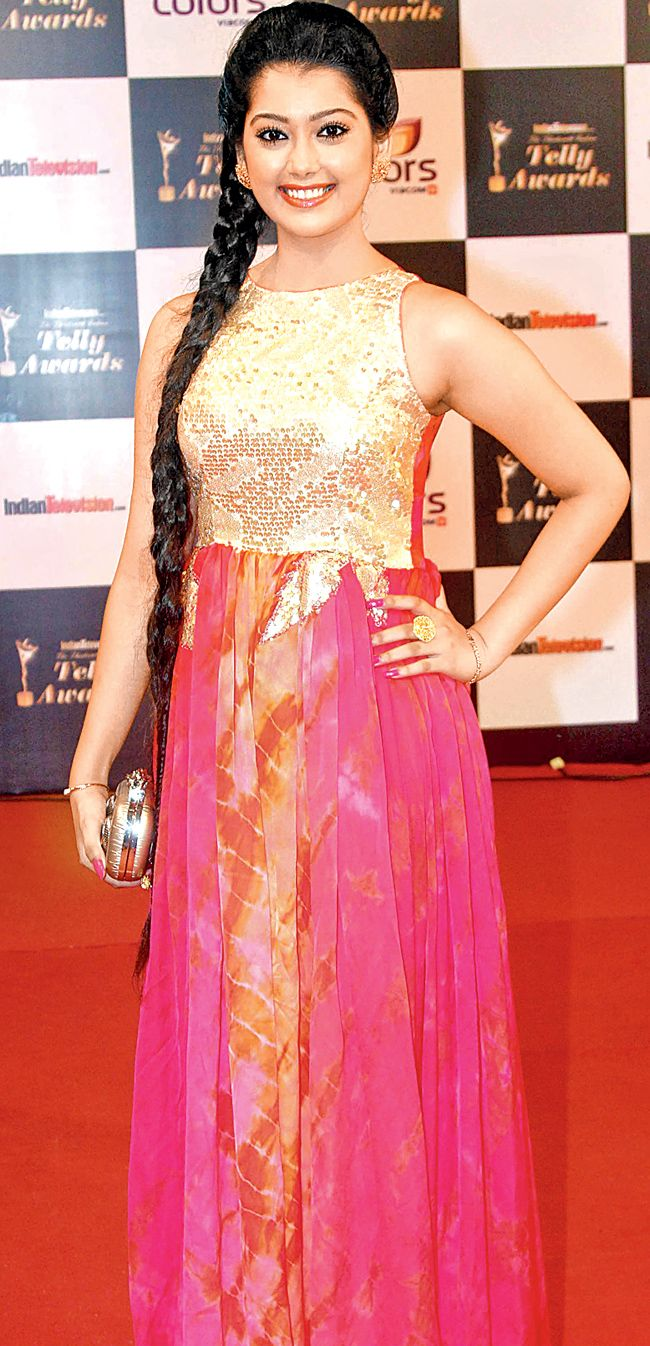 Digangana Suryavanshi on the red carpet of 13th Indian Telly Awards.
