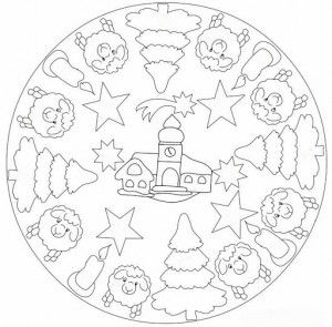christmas mandala coloring pages (1)                                                                                                                                                                                 More