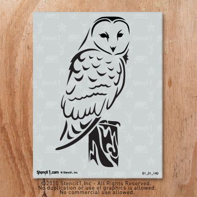 great for a harry potter nursery  Stencil1 Barn Owl Stencil S1_01_140 by Stencil1 on Etsy, $10.99