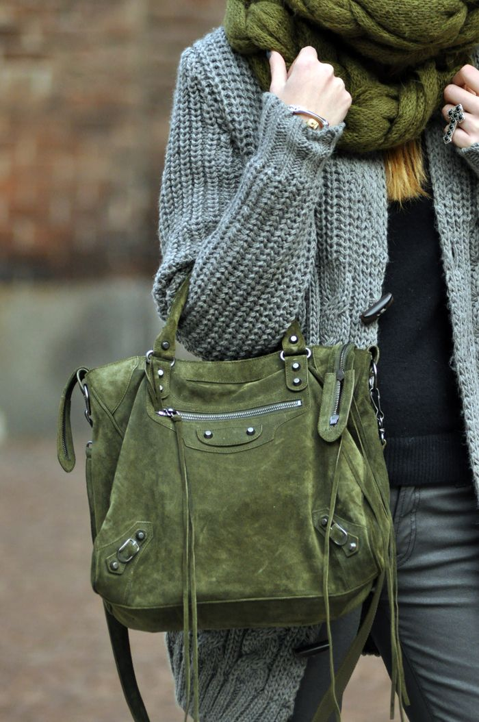 Accessorize with olive this fall!