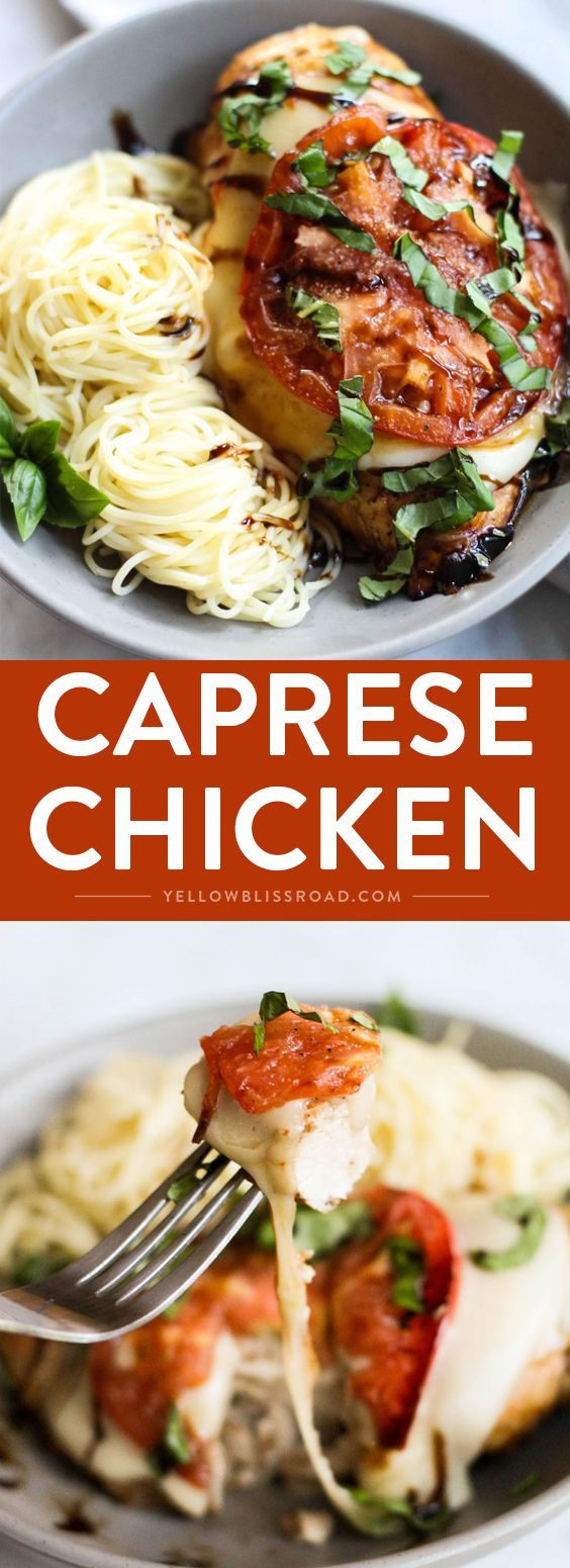 Baked Caprese Chicken - an elegant and classic recipe that's easy enough for a…