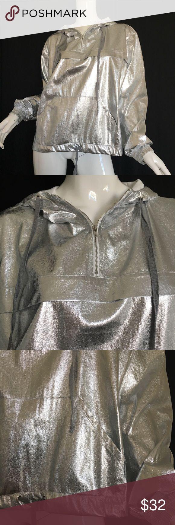 "Women's Metallic Hoodie XL Armpit to armpit 26"" Length 24"" Thin, soft fabric Say What? Tops Sweatshirts & Hoodies"