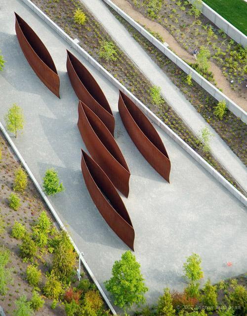 Aerial Photography by Andrew Buchanan Corten Steel sculptures