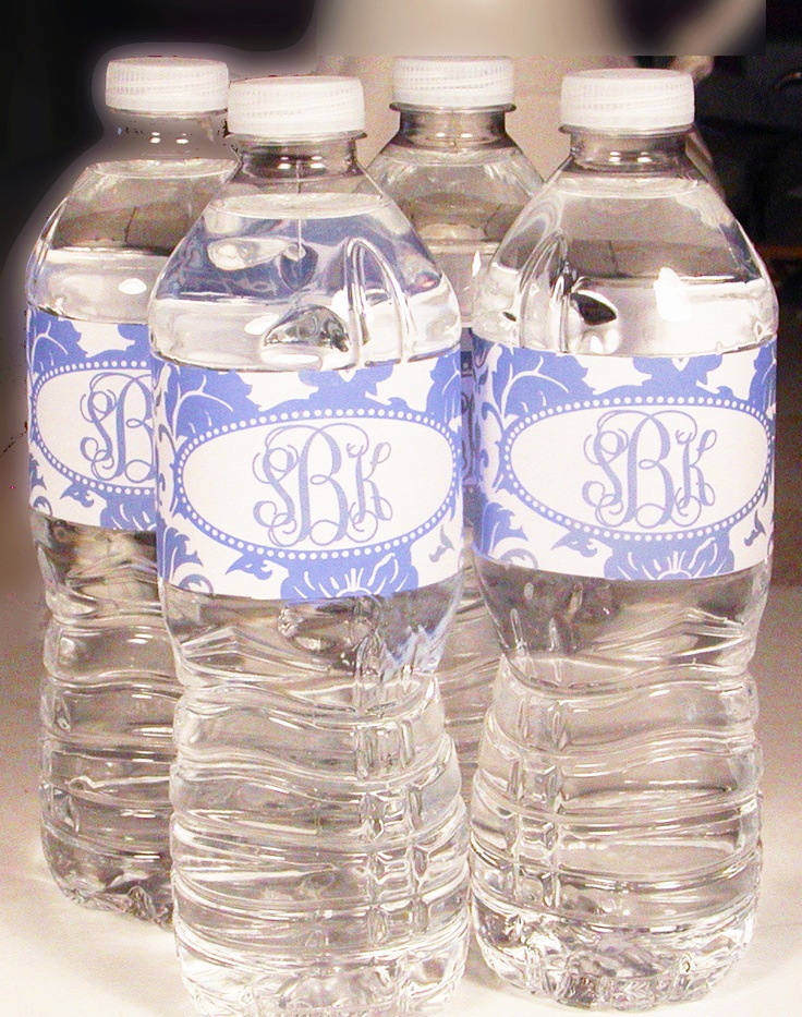 personalized damask wedding water bottle labels by wheniwasyourage 5