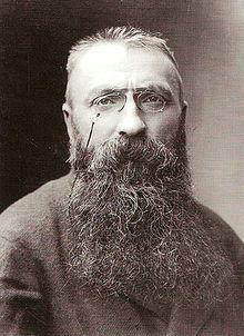 Auguste Rodin en 1891. Il a alors 51ans, c'est la fin de son histoire d'amour avec Camille Claudel  qui a alors 27 ans.