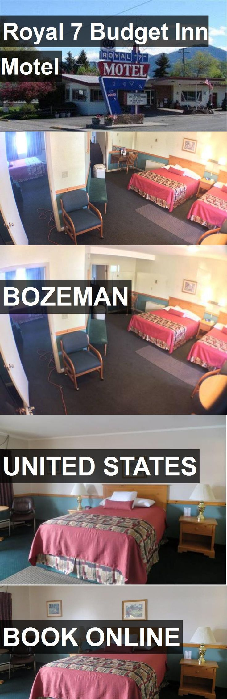 Hotel Royal 7 Budget Inn Motel in Bozeman, United States. For more information, photos, reviews and best prices please follow the link. #UnitedStates #Bozeman #travel #vacation #hotel