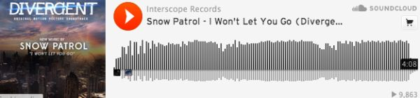 """Official Soundtrack Release: """"I Won't Let You Go"""" by Snow Patrol  SO GOOD"""