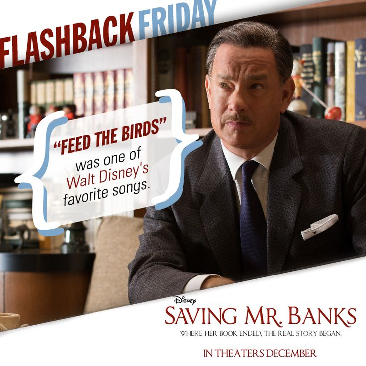 """One of Walt Disney's favorite songs from """"Mary Poppins"""" was """"Feed the Birds."""" He enjoyed it so much that he would often call the Sherman Brothers into his office to play it for him. It became a regular almost-every-Friday ritual. #FlashbackFriday"""