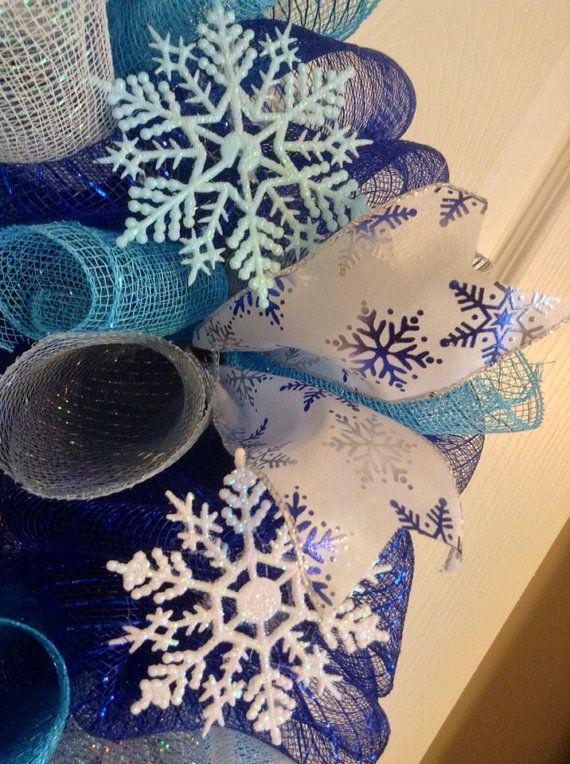 Winter Wreath/ Snowflake Wreath/ Snowman by Wreaths4u2byPaula