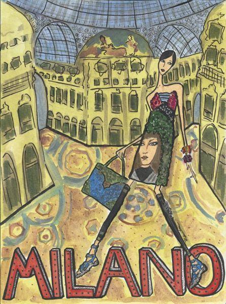 10 anni di Marie Claire 2 Accessori - MarieClaire mostra Viaggio in Italia - illustrazioni di Rebecca Moses- in via della Spiga 19 febbraio