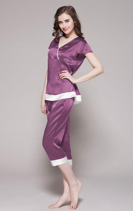 11 best pyjama femme sexy en soie images on pinterest. Black Bedroom Furniture Sets. Home Design Ideas