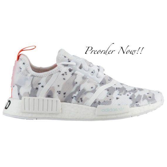 01f1fce59310f Swarovski Womens Adidas Originals NMD R1 Tan Camo Sneakers Blinged ...