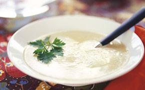Arla's soppa på jordärtkocka. Lagat idag 4 jan 2014. Jag dubblade receptet. God smak, passar bra som förrätts-soppa.