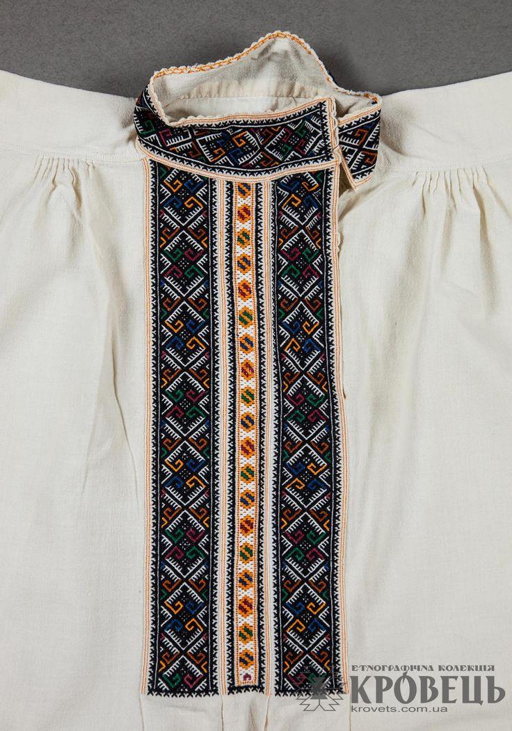 Mens shirt from Eastern Podillya, Vinnytsya region. Nyzynka embroidery. From the Krovets Collection.
