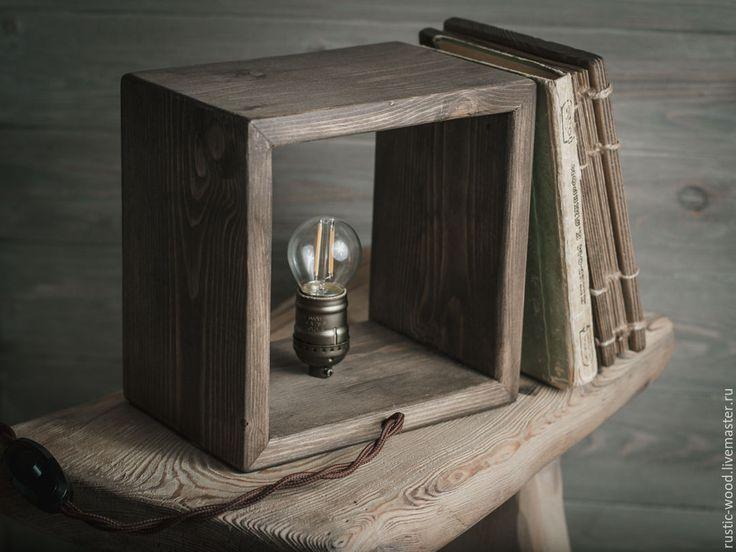 """Купить Лампа настольная деревянная. """"Ретро"""" - лампа настольная, лампа из дерева, светильник, светильник из дерева"""