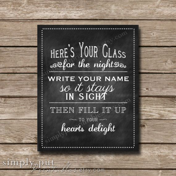 Hey, I found this really awesome Etsy listing at https://www.etsy.com/listing/200393008/wedding-drink-sign-wedding-glass-sign