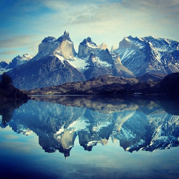A perfect reflection of Torres del Paine