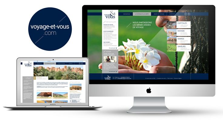 Design / Ergonomie / Site internet pour le compte de l'agence Voyag&Vous