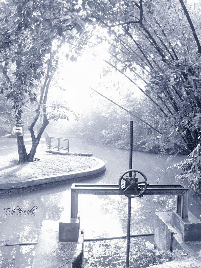 #agriculture #irrigation #canal #valves #river #photography #monochrome #landscape