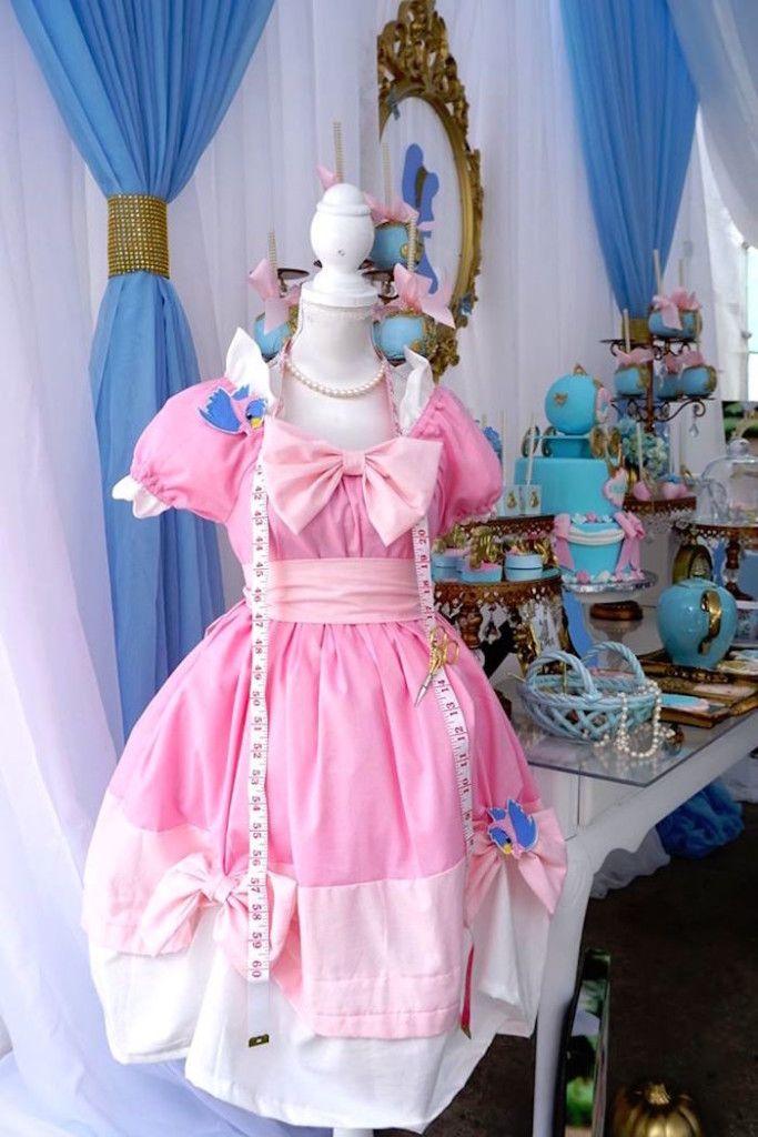 An adorable Cinderella dress from a Cinderella Birthday Party via Kara's Party Ideas   KarasPartyIdeas.com (8)