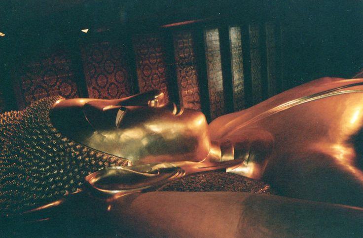 Relaxing the Thai way--the 150-foot-long Sleeping Buddha, Wat, Pho, Bangkok