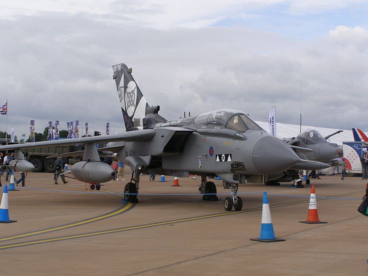 Panavia Tornado GR4 ZD748 at RAF Fairford in special 2 Sqn markings Photo by MilbourneOne