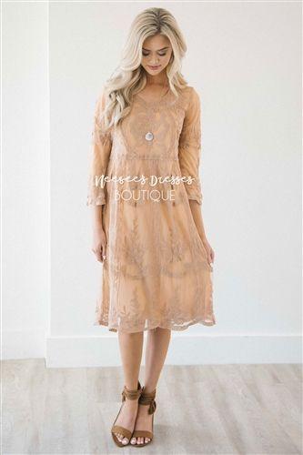 Day Dreamer Lace Dress in Honey