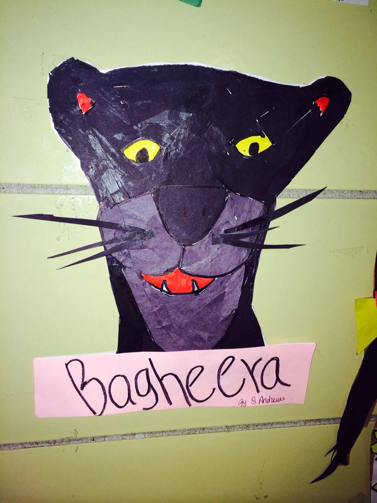 The  panther from jungle  book theme   Drawn bye  me  colAge  not colored