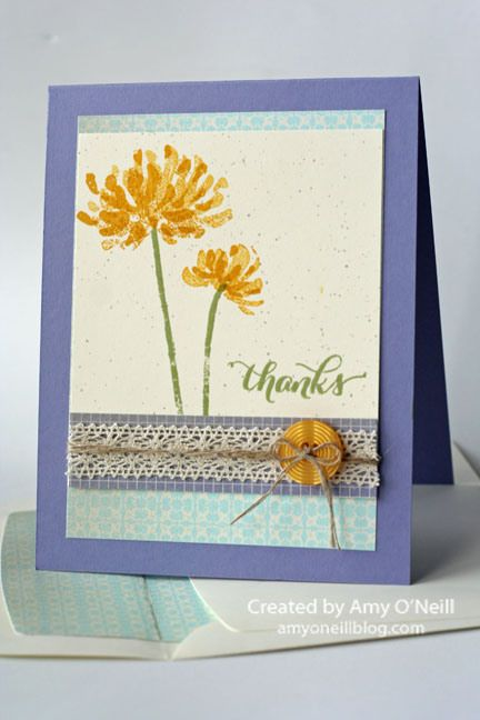 Love the look of two step stamping!Crafts Ideas, Cards Ideas, Flower Stamps, Kind Stamps, 2014 Cards, Kind Stampin, Paper Cards, Wisteria Wonder, Crushes Curries