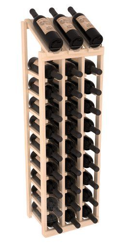Wine Racks America® 3 Column Display Wine Rack in Ponderosa Pine. 13 Gorgeous Stains to Choose From! Capacity: 30 Bottles