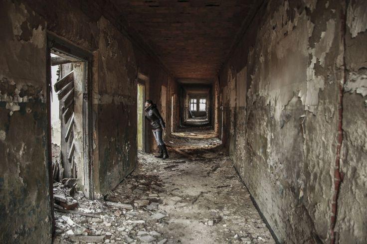 opuszczone budynki Pstrąże