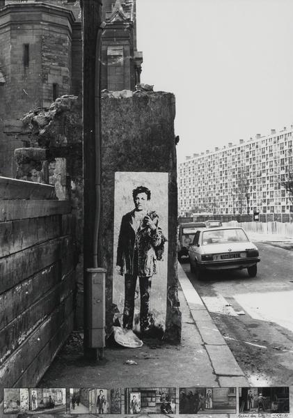 """""""Rimbaud"""" dans les rues de Paris par Ernest Pignon-Ernest (1942) artiste plasticien français. Il est un des initiateurs, avec Daniel Buren et Gérard Zlotykamien, de l'art urbain en France. CK"""