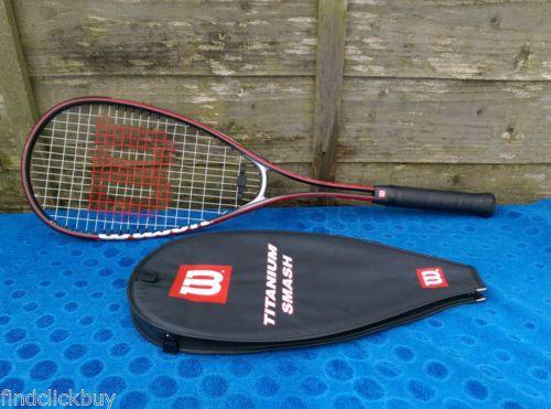 Wilson-Titanium-Smash-Squash-Racket-27-Lightweight-200g-Head-Cover-VGC