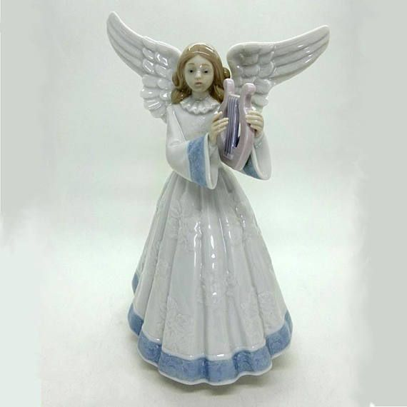 7 best lladro images on pinterest china figurine and security guard new lladro heavenly harpist angel 1991 limited edition publicscrutiny Image collections