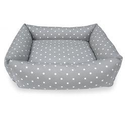 Combination Bolster Dog Bed - Grey Dotty PetsPyjamas