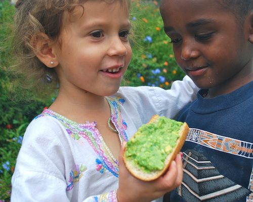 Super-healthy and easy snack for kids from Chile: Palta (Avocado) Las Once- Kid World Citizen