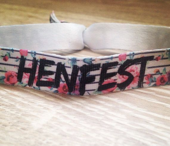 Hen Party Wristbands by TheHenPlanner on Etsy