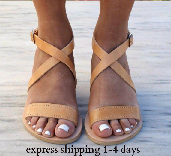 THETIS sandals/ ancient Greek leather sandals/ classic