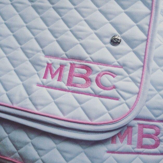 Saddlepad (PONY SIZE) White/BabyPink/White ~ MBC logo