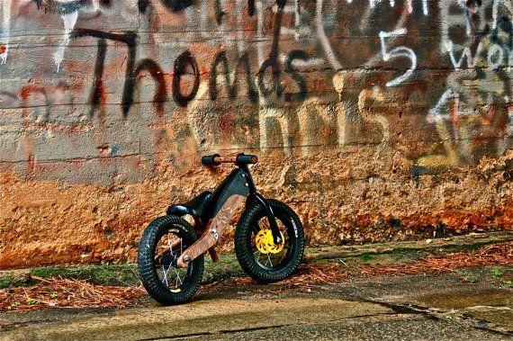 Hybrid Wood and Metal Balance Bike by SmithworksDesign on Etsy, $180.00